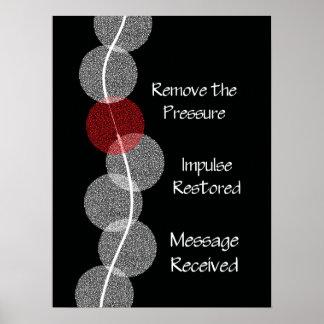 Chiropractic Subluxation Nerve Impingement Poster