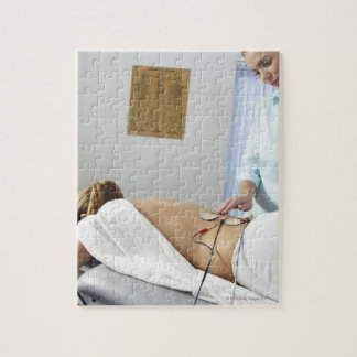 Chiropractic treatment. complaint in her puzzle