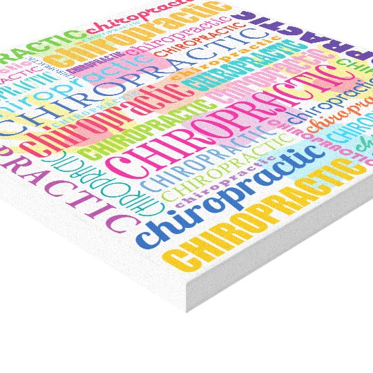 Chiropractic Word Collage Wrapped Canvas