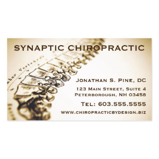 Chiropractor Appointment Cards Double-Sided Standard Business Cards (Pack Of 100)