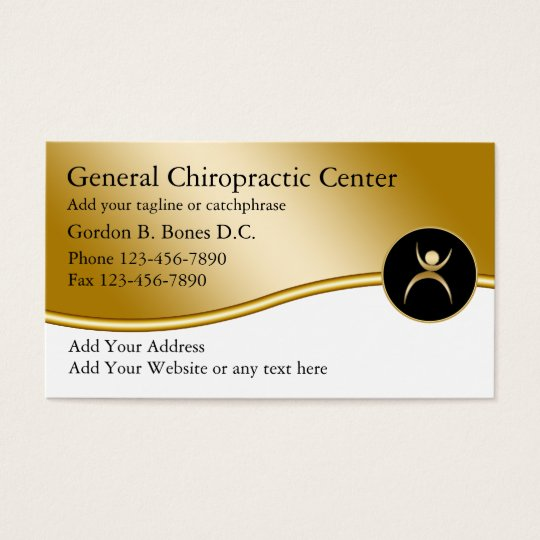 Chiropractor Business Cards