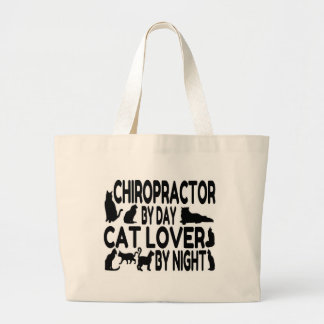 Chiropractor Cat Lover Large Tote Bag
