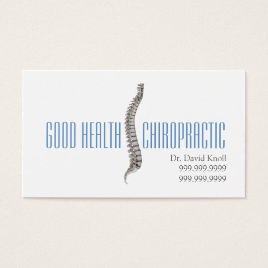Chiropractor Chiropractic Health Wellness Clinic Business Card