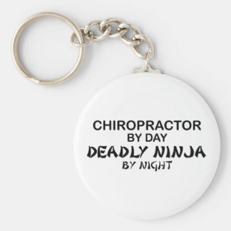 Chiropractor Deadly Ninja by Night Basic Round Button Key Ring