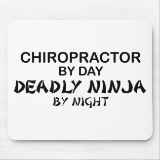 Chiropractor Deadly Ninja by Night Mouse Mat