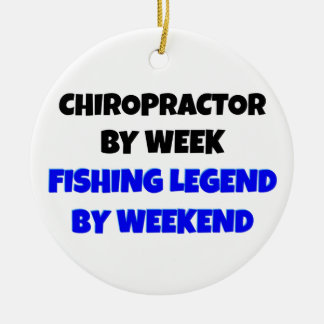Chiropractor Fishing Legend Christmas Ornament