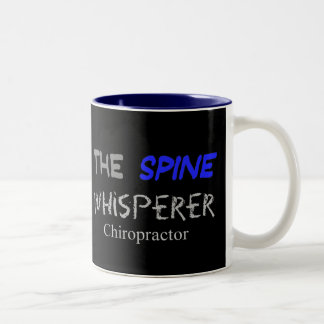 "Chiropractor Gifts ""The Spine Whisperer"" Two-Tone Mug"