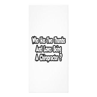 Chiropractor Joke...Two Thumbs Personalised Rack Card