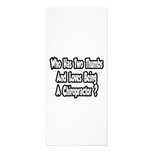 Chiropractor Joke...Two Thumbs Custom Rack Card