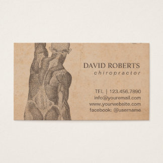 Chiropractor Massage Therapy Vintage Appointment Business Card