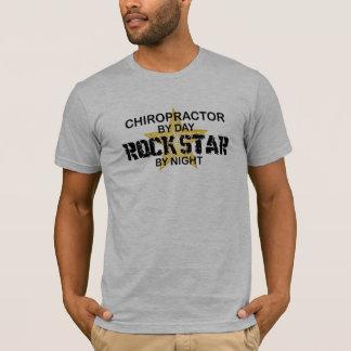Chiropractor Rock Star by Night T-Shirt