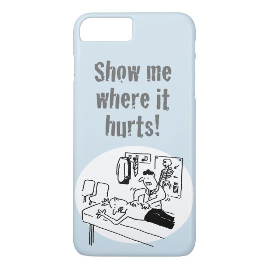 "Chiropractor says ""Show me where it hurts""! iPhone"