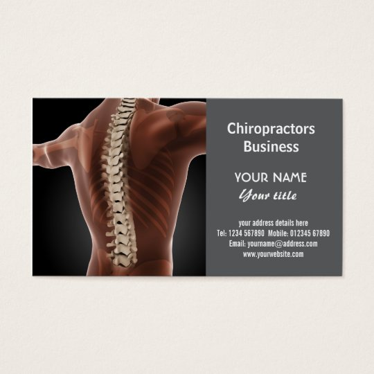 Chiropractors Business Card