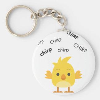 Chirp Baby Chick Cute Emoji Key Ring