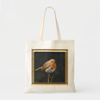 Chirpy Robin Tote Bags