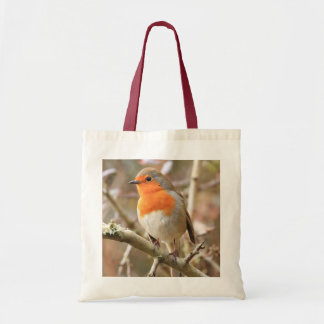 Chirpy Robin Budget Tote Bag