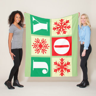 Chirstmas Joy Snowflake Fleece Blanket