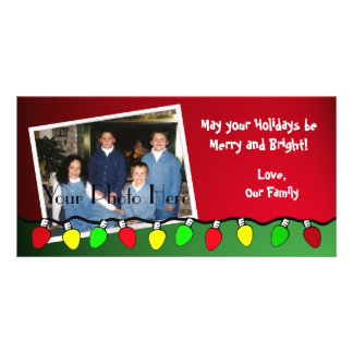 Chirstmas Lights/ Photo Greeting Card