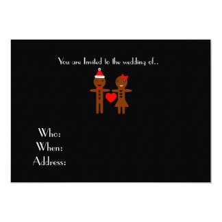 chirstmas wedding Gingerbread Man and Woman Card