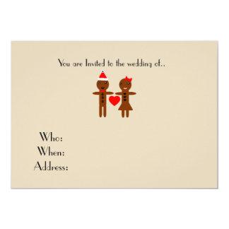 chirstmas wedding Gingerbread Man and Woman Card