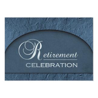 Chiseled Stone Blue Business Executive Retirement 13 Cm X 18 Cm Invitation Card