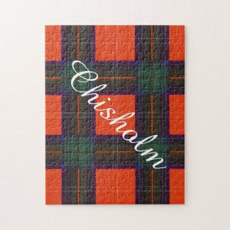 Chisholm clan Plaid Scottish tartan Jigsaw Puzzle