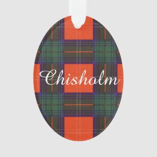 Chisholm clan Plaid Scottish tartan Ornament