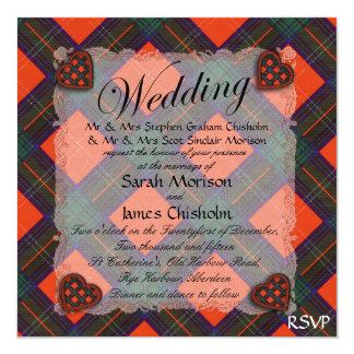 Chisholm Scottish clan tartan - Plaid Card