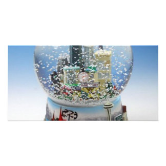 Chistmas Snow Globe Picture Card