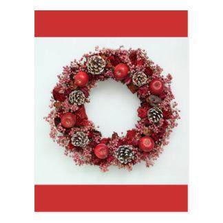 Chistmas wreath Postcard
