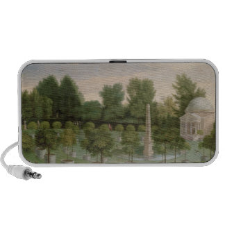 Chiswick House Gardens (oil on canvas) iPod Speaker