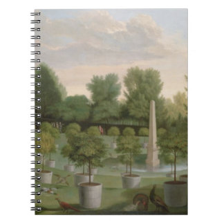 Chiswick House Gardens (oil on canvas) Spiral Notebook