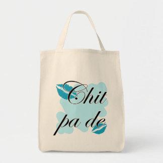Chit pa de - Burmese - I Love You (2) Teal Kisses. Grocery Tote Bag