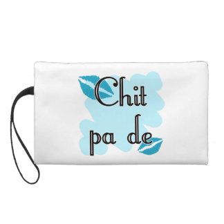 Chit pa de - Burmese - I Love You (4) Teal Kisses. Wristlet Clutch