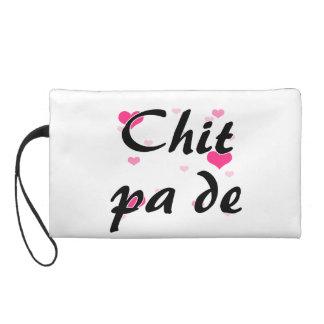 Chit pa de - Burmese - I Love You Pink Hearts.png Wristlet Clutch