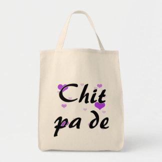 Chit pa de - Burmese - I Love You Purple Hearts.pn Grocery Tote Bag