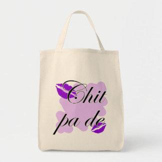 Chit pa de - Burmese - I Love You Purple Kisses (3 Grocery Tote Bag