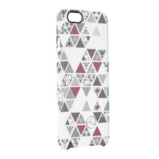 chitsanzo triangular- purple clear iPhone 6/6S case