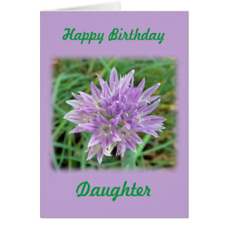 Chive Flower Greeting Card