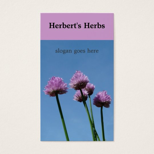 Chive Herb  Flower Bloom Business Card