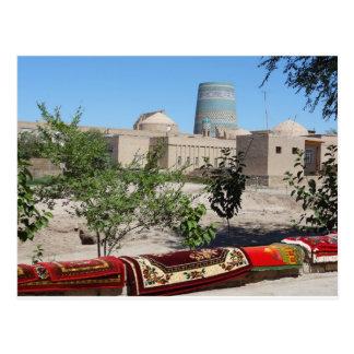 Chiwa, Khiva view to the Kalta Minor minaret Postcard