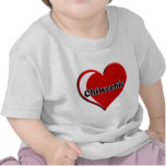 Chiweenie on Heart for dog lovers Tee Shirts