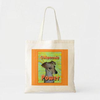 Chiweenie Power Tote Bag
