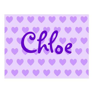 Chloe in Purple Postcard