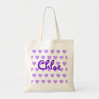 Chloe in Purple Tote Bag