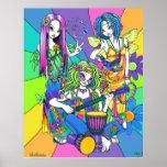 """Chloe,Melody,Harmony"" Flower Fairy Band Poster"