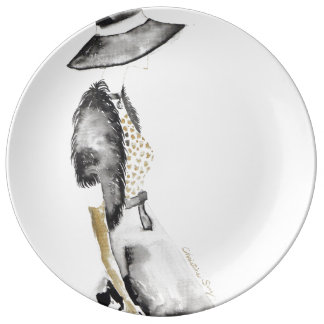 Chloe no.5 porcelain plates
