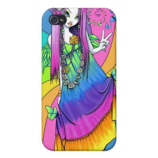 """""""Chloe"""" Rainbow Peace Hippie Fairy IPhone 4 Case"""