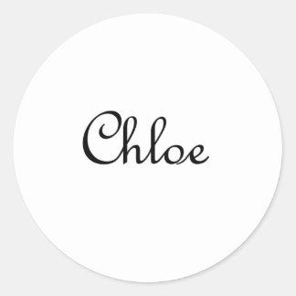 Chloe Round Sticker