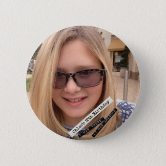 Chloe's 12th 6 cm round badge